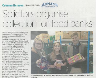 300kg Donated to Colchester Foodbank!