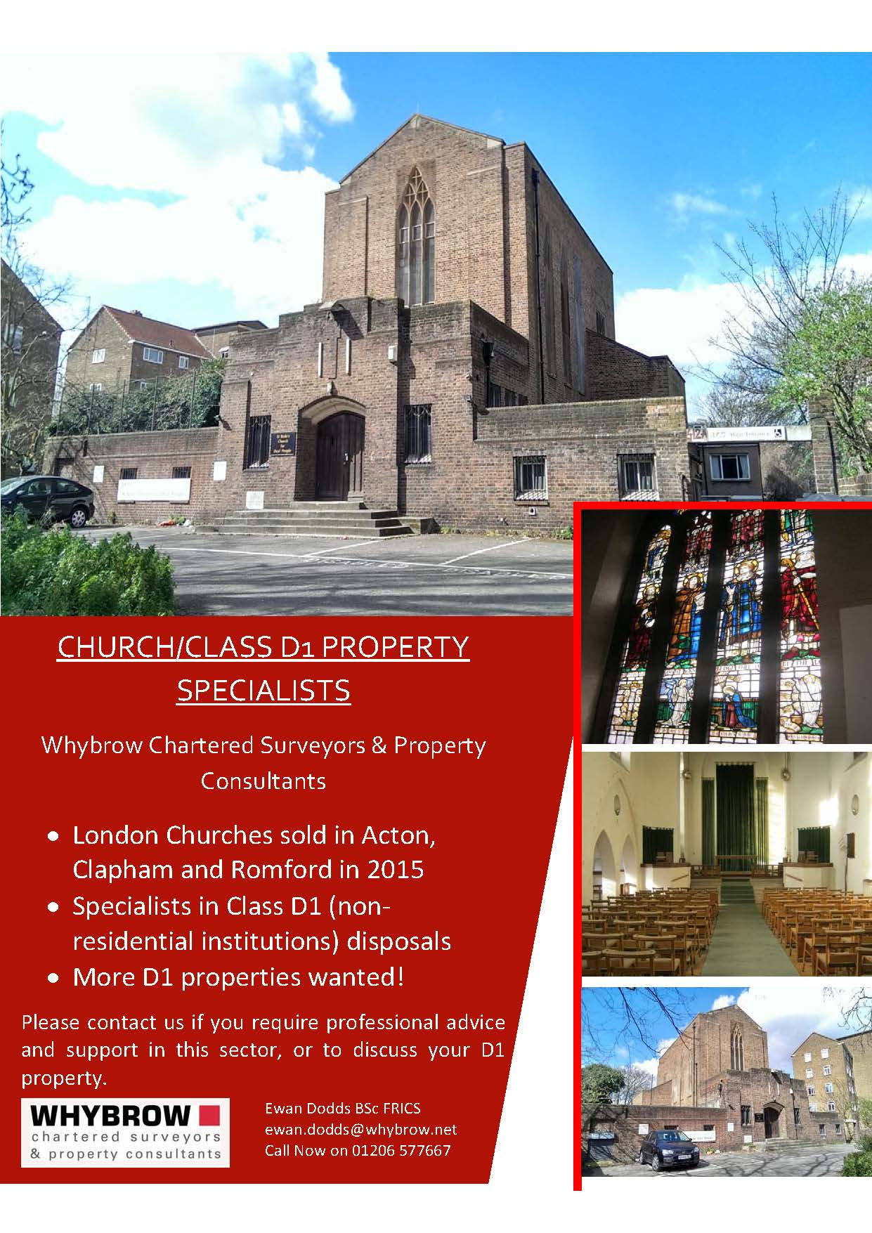 D1 CHURCH DISPOSALS IN LONDON